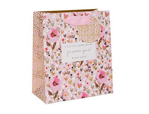 Hearts and Flowers Medium Gift Bag