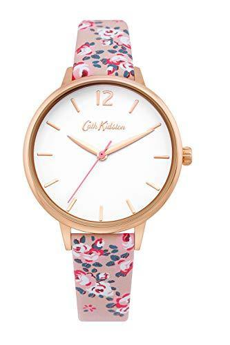 Cath Kidston Ladies Watch with Pink Floral Strap and White Dial CKL067PRG