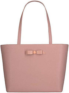 Ted Baker JJESICA Bow detail leather shopper tote shoulder bag in Light Pink RRP £129.00 - Cordelia's House of Treasures
