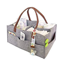 CatcherMy Foldable Felt Storage Bag Portable Lightly Multifunction Changeable Compartments for Mom Newborn Kids Nappies,Grey, 07 - Cordelia's House of Treasures