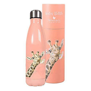 Wrendale Designs - 'Flowers' giraffe water bottle