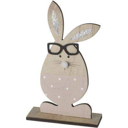 Wooden rabbit easter decoration - Cordelia's House of Treasures