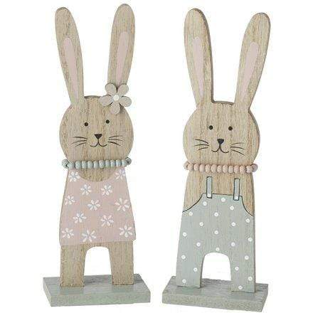 Adorable pastel painted wooden easter bunnies - Cordelia's House of Treasures