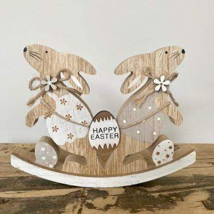 Wooden easter bunny ornament - Cordelia's House of Treasures