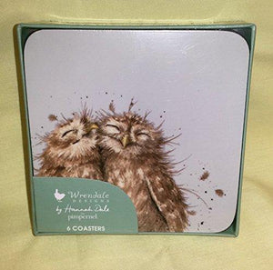Wrendale Owl Coasters, Set of 6 - Cordelia's House of Treasures