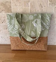 Ancolie tote/shopper cork and woodland - STILL POSTING - Cordelia's House of Treasures