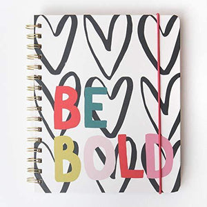 Wirobound Hardback Travel Journal - Be Bold - Cordelia's House of Treasures