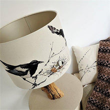 Unique Lampshade with Magpies and bling- Table, floor, bedside lamp or ceiling shade - Country Home Decor - Gift for bird Lovers - Choice of shape and size