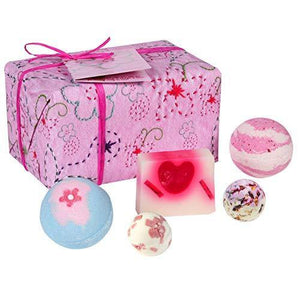 Bomb Cosmetics Pretty in Pink Handmade Wrapped Bath and Body Gift Pack, Contains 5-Pieces, 480 g [Contents May Vary] - Cordelia's House of Treasures