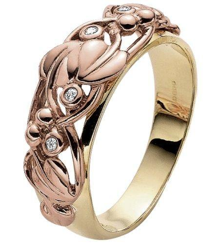 Clogau Gold 9ct Yellow & Rose Gold Diamond Tree of Life Ring - Cordelia's House of Treasures