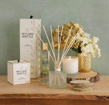Heyland & Whittle - Gold Classic Wild Lemongrass Reed Diffuser 200ml - Glass Gold & Cream