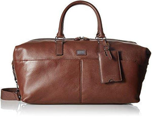 Ted Baker Mens Tiger Leather Holdall Duffel Bags - Brown - - Cordelia's House of Treasures