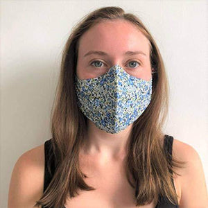 3 Pack - Liberty of London Face Mask/Covering with Filter Pocket and Nose Wire