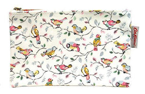 Cath Kidston Pencil Case Pouch Zip Purse Little Birds in Off White Oilcloth