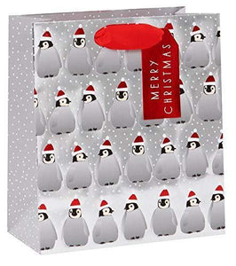 Penguins Merry Christmas Medium Gift Bag – Wendy Jones-Blackett Xmas Giftbag