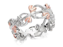 Clogau Womens Clogau Silver And 9ct Rose Gold Tree Of Life Ring R