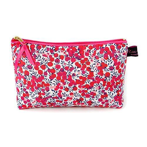 Liberty Fabric Cosmetic Bag in Wiltshire Red - Cordelia's House of Treasures