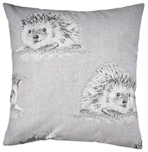 "Cushion Cover in Grey and Purple Hedgehog Brushed Cotton 16"" - Cordelia's House of Treasures"