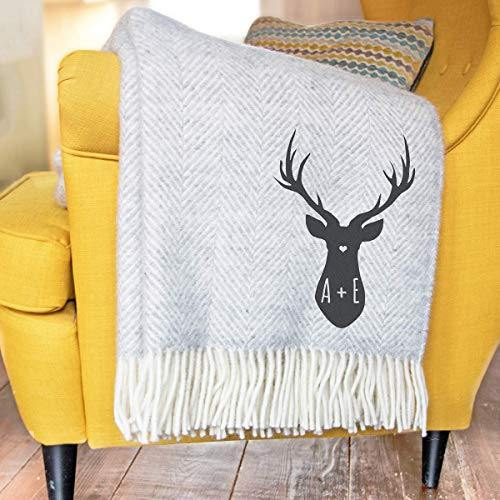 Personalised Stag Throw - Cordelia's House of Treasures