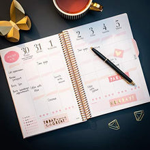 Life Planner Pink 2021 Diary from Burde | 21 December 2020-9 January 2022 | Week to View Diary in A5 for 2021 | Pink A5 Format Planner