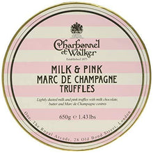 Charbonnel et Walker Double Layer Milk and Pink Champagne Truffles, Large