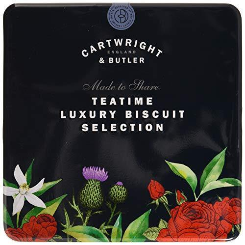 Cartwright & Butler Biscuit Assortment Tin | Contains Seven Different Biscuit Flavours | Presented in a Reusable Square Biscuit Tin | Perfect Gift - Assorted Selection
