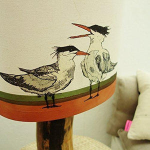 Unique Lampshade with Turns on a Beach - Table, floor, bedside lamp or ceiling shade - Country Home Decor - Gift for bird Lovers - Choice of shape and size
