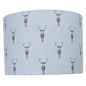 Stag Sophie Allport Drum Lampshade (20 cm Diameter x 18 cm High Table/Standard Lamp)