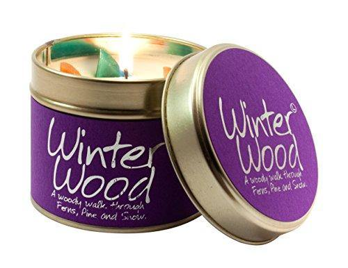 Lily Flame Winter Wood Tin, Purple