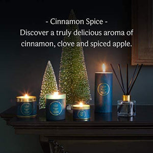 Shearer Candles Cinnamon Spice Large Scented Gold Tin Candle-Teal - Cordelia's House of Treasures