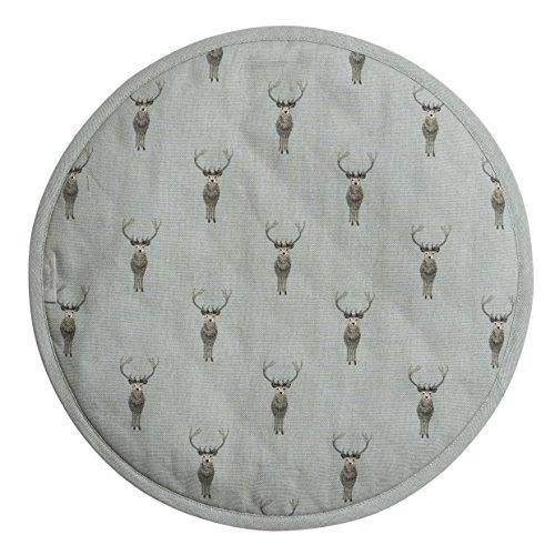 Sophie Allport Hob Cover Round - Highland Stag Design - Cordelia's House of Treasures