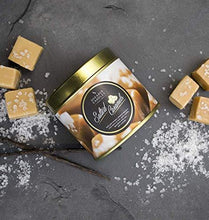 Shearer Candles Salted Caramels, Scented, Tin Candle, Cotton Wick, Fragrance & Essential Oils, Gold and White, Large