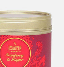 Shearer Candles Cranberry & Ginger Scented Tin Candle, Red, 6 x 6 x 4.7 cm