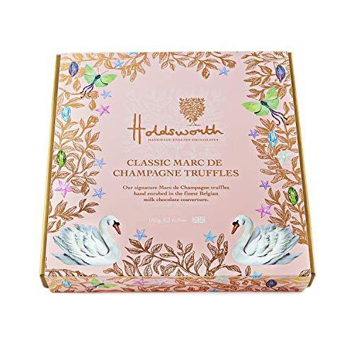 Holdsworth Chocolates Classic Marc de Champagne Truffles - A Collection Of Milk Chocolate Truffles - Perfect For Gifting - 185g