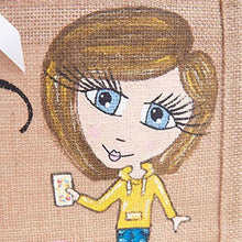 Personalised Caricature Hand Painted Jute Bag - 20cm x 22cm