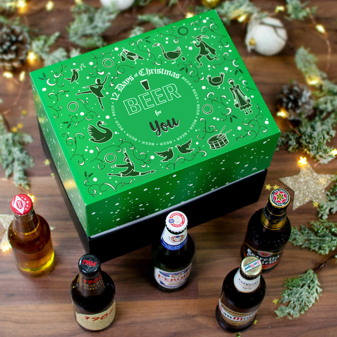 Non-Personalised 12 Days of Christmas Gift Box - Beer - Cordelia's House of Treasures