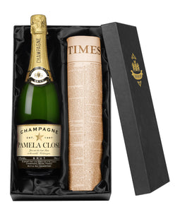 Personalised Champagne & Original Newspaper - Cordelia's House of Treasures