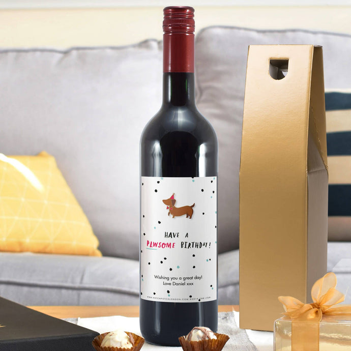 HotchPotch Pawsome Birthday Red Wine - Cordelia's House of Treasures