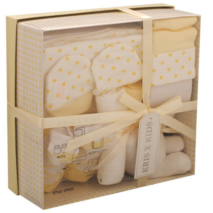 Lemon and white Gift Box for a 0-3months baby - Cordelia's House of Treasures