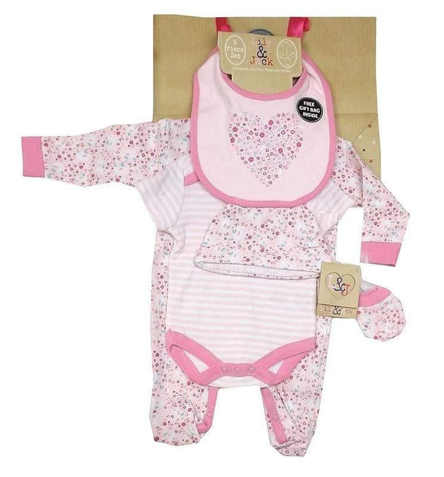 Lily and Jack pretty pink layette set , 5 piece - Cordelia's House of Treasures