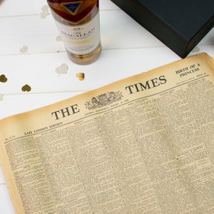 Macallan Double Cask Gold Whisky and Original Newspaper - Cordelia's House of Treasures