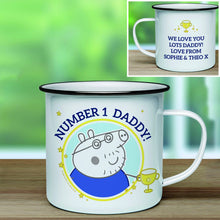 Peppa Pig™ Number 1 Daddy Enamel Mug - Cordelia's House of Treasures