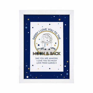 Peppa Pig™ Daddy Moon & Back A4 Framed Print - Cordelia's House of Treasures
