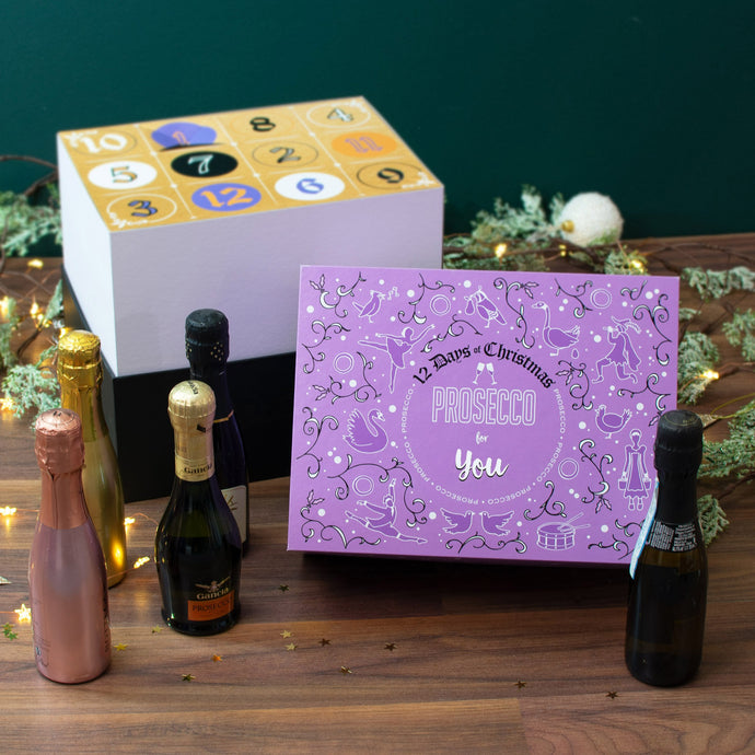 Non-Personalised 12 Days of Christmas Gift Box - Prosecco - Cordelia's House of Treasures