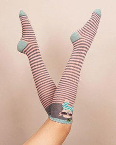 Adorable Westie Ankle Sock for Women. Powder, Scotland. Bamboo soft.