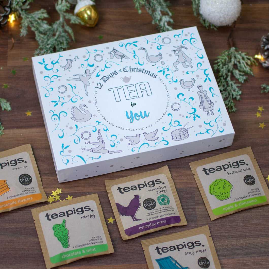 Non-Personalised 12 Days of Christmas Gift Box - Tea - Cordelia's House of Treasures