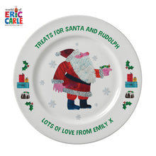 "Very Hungry Caterpillar Treats For Santa 8"" Rimmed Plate - Cordelia's House of Treasures"