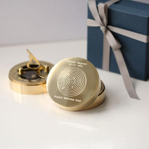 Planets Aligned Personalised Brass Sundial Compass