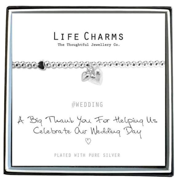 A Big Thank You for Helping us Celebrate our Wedding day- Life Charms - wedding Group one