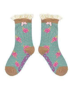 Age 5-7 girls rosebud Powder Socks For Girls - Cordelia's House of Treasures